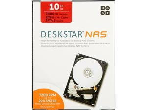 "HGST Deskstar NAS 3.5"" 10TB 7200 RPM 256MB Cache SATA 6.0Gb/s High-Performance Hard Drive for Desktop NAS Systems Retail Packaging 0S04037"