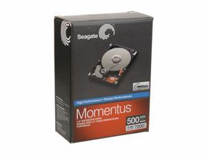 "Seagate Momentus ST905003N3A1AS-RK 500GB 7200 RPM 16MB Cache SATA 3.0Gb/s 2.5"" Internal Notebook Hard Drive Retail kit"