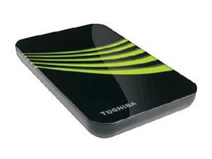 "TOSHIBA 160GB USB 2.0 2.5"" External Hard Drive Black with green flower pattern"