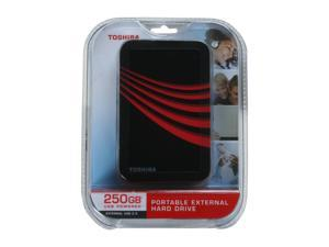 "TOSHIBA 250GB 2.5"" Black with red flower pattern External Hard Drive"