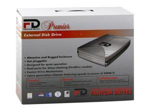 "Fantom Drives Premier Slim 120GB USB 2.0 3.5"" External Hard Drive"
