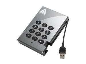 "APRICORN Aegis Padlock 320GB 2.5"" Secure 256-bit AES Hardware Encrypted Portable Hard Drive"