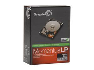 "Seagate Momentus STBD1000100 1TB 5400 RPM 8MB Cache SATA 3.0Gb/s 2.5"" Internal Notebook Hard Drive Retail Packaging"