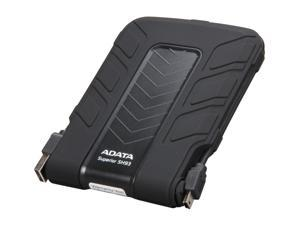 "ADATA Superior Series 2.5"" 500GB SH93 Water & Shock Proof External Hard Drive (Black) Model ASH93-500GU-CBK"