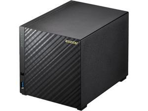 Asustor AS3104T 4-Bay NAS, Intel Celeron Dual-Core, 2 GB DDR3L, GbE x 1, USB 3.0 x 3, WoL, System Sleep Mode, AES-NI hardware encryption