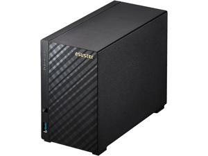 Asustor AS3202T 2-Bay NAS, Intel Celeron Quad-Core, 2 GB DDR3L, GbE x 1, USB 3.0 x 3, WoL, System Sleep Mode, AES-NI hardware encryption