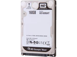 "Western Digital Scorpio Black WD1600BJKT 160GB 7200 RPM 16MB Cache SATA 3.0Gb/s 2.5"" Internal Notebook Hard Drive -Manufacture ..."