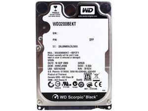 "WD WD3200BEKT-RF 320GB 7200 RPM 16MB Cache SATA 3.0Gb/s 2.5"" Internal Notebook Hard Drive"