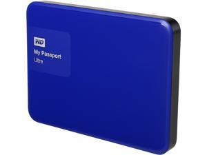 WD 1TB Blue My Passport Ultra Portable External Hard Drive - USB 3.0 - WDBGPU0010BBL-NESN