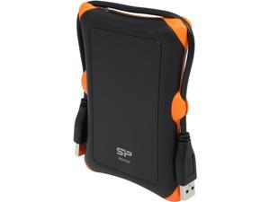 Silicon Power 2TB Armor A30 Portable Hard Drive USB 3.0 Model SP020TBPHDA30S3K Black