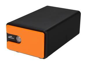"Eagle Tech 4TB USB 2.0 3.5"" External Hard Drive with OTB and two user changeable color bezels"