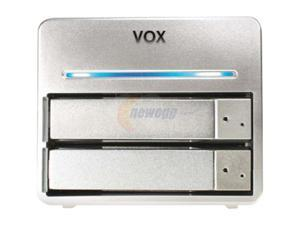 Vox EXSAR-35BBN-1T-S Dual Bay Gigabit RAID Shared Network Storage