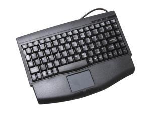 SolidTek KB-540BU Black USB Wired Mini Keyboard with TouchPad