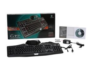 Logitech G19 USB Wired Standard Gaming Keyboard - Black