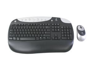 Logitech Cordless Desktop Optical 967320-0403 Black RF Wireless Keyboard