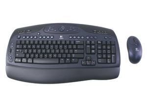 Logitech Cordless Desktop LX500 967420-0403 Blue/Black RF Wireless Keyboard