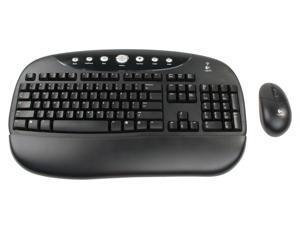 Logitech Cordless Internet Pro 967461-0403 Black RF Wireless Desktop - OEM