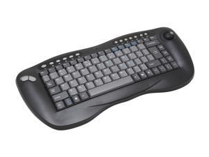 X-Gene 01027 Black RF Wireless Keyboard with Optical Trackball