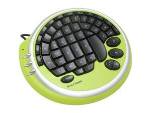 WOLF KING Warrior Envy Green Wired Gaming Key Pad