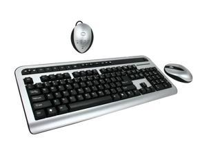 SPEC Research KA14-998B Black&Silver RF Wireless Keyboard w/ Mouse