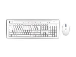 macally IKEY5COMBO Ice white Wired Keyboard & Game Mouse Combo