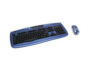APEVIA KI-COMBO-BL Blue & Black Keyboard and Optical Scroll Mouse Combo Set