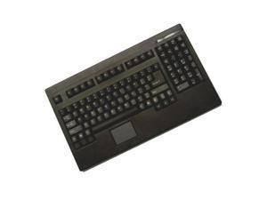 Adesso ACK-730PB EasyTouch PS/2 Rackmount Size Keyboard with touchpad (Black)