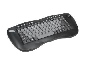 ADESSO WKB-3000UB Black 2.4 GHz RF Wireless Keyboard w/Optical Trackball