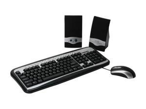 DCT Factory KBJ-313 Silver & Black PS/2 Standard 3 in 1 Combo especially for PC and Notebook