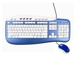 Saitek PK09AUB Blue Keyboard & Mouse Combo