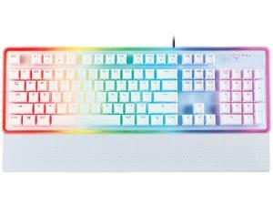 Rosewill NEON K51 - Hybrid Mechanical RGB Gaming Keyboard / Multicolor Backlit Keyboard (White)