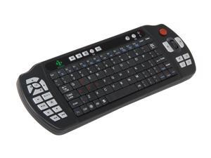 nMEDIAPC HTPCKB-100 Black RF Wireless Keyboard with IR Universal TV Remote Set