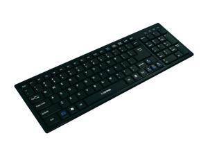 i-rocks KR-6421-BK Black USB Wired Mini Ultra X-Slim Keyboard with Terrace Keycap
