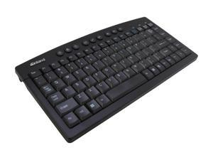 inland 70141 Silver & black USB Wired Mini Multimedia Keyboard