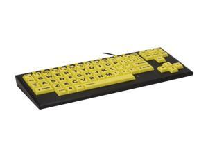 chestercreektech VisionBoard2 Yellow VB2YELLOW Black/Yellow Wired Large-key keyboard w/ black case