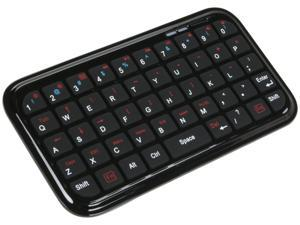 Spider Black Bluetooth Wireless Ultra Mini Rechargeable Keyboard