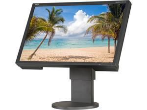 "NEC Display Solutions EA221WM-BK Black 22"" 5ms Widescreen LCD Desktop Monitor w/ Adjustable Stand 250 cd/m2 1000:1 Built-in ..."