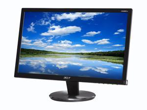 """Acer P Series P206HL  Black 20"""" 5ms  LED Backlight Widescreen LCD Monitor"""