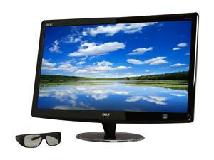 "Acer HR274Hbmii Black 27"" 2ms Dual HDMI Widescreen LED 3D Monitor Built-In Speakers w/3D Glasses"