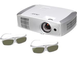 "Acer H7550ST Projector, 3000 Lumens, 16000:1 Contrast Ratio, 54""-300"" Image Size, HDMI, USB, VGA, Composite Video, S-Video, Built-in Speaker"