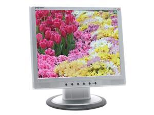"Polyview V17E Silver-Black 17"" 14ms LCD Monitor Built-in Speakers"