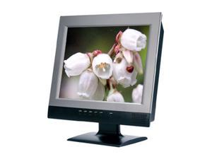 "Polyview PT-518A Silver-Black 15"" 16ms LCD Monitor Built-in Speakers"