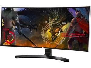 "LG 34UC88 34"" Curved FreeSync IPS Monitor 3440 x 1440 WQHD 5ms 21:9 UltraWide On-Screen Control with 4-way Screen Split, Height and Tilt Adjustable, USB 3.0/HDMI/DisplayPort, VESA Mountable"