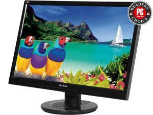 "ViewSonic VA2246M-LED Black 21.5"" 5ms Widescreen LED Backlight LCD 16:9  Full HD 1080P Monitor, 250 cd/m2 1000:1 (typ.) / 10,000,000:1 (Dynamic), DVI/D-Sub, Built-in Speakers, VESA Mountable"