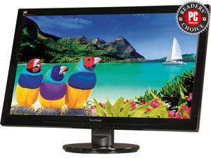 "ViewSonic VA2446M-LED 23.6"" Full HD 1080P TN Monitor, 1000:1, 300 cd/m2, VGA&DVI-D, Built-in Speaker, VESA Mountable"