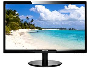 """PHILIPS 246V5LHAB/27 Black 24"""" 5ms HDMI LED Backlight LCD monitor with SmartControl Lite"""