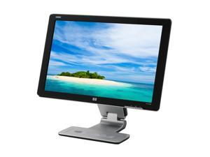 """HP w2408h Black 24"""" 5ms Widescreen LCD Monitor w/ Height & Pivot Adjustments Built-in Speakers"""