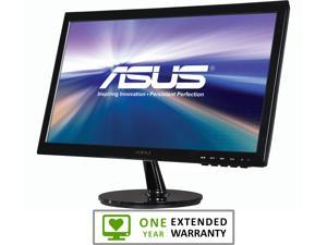 "ASUS VS207D-P Black 19.5"" 5ms Widescreen LED Backlight LCD Monitor With 1 Year Extended Warranty"