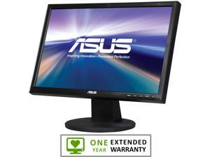 "ASUS VW Series VW199T-P Black 19"" 5ms Widescreen LED Backlight LCD Monitor With 1 Year Extended Warranty"