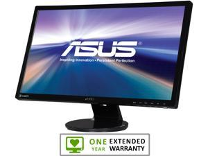 """ASUS VE248Q Black 24"""" 2ms GTG HDMI Widescreen LED Backlight LCD Monitor With 1 Year Extended Warranty"""